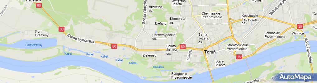 Zdjęcie satelitarne Biuro Rachunkowe Abacus Woźniak Jadwiga Mularczyk Janusz