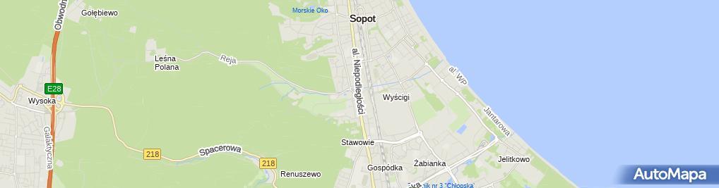 Zdjęcie satelitarne Biuro Rachunkowe AGA