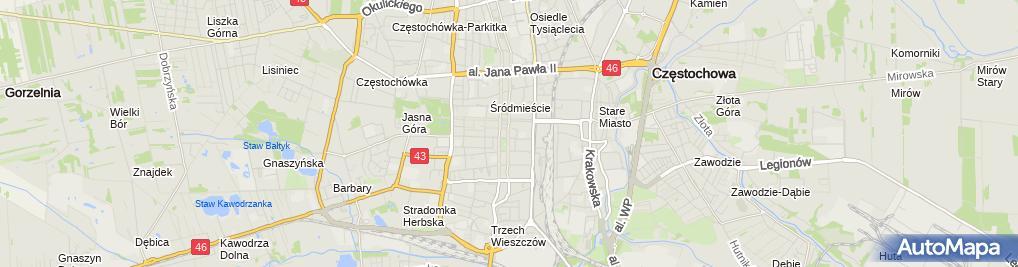 Zdjęcie satelitarne Biuro Rachunkowe Bilans MGR Grażyna Wojtal MGR Grażyna Polak