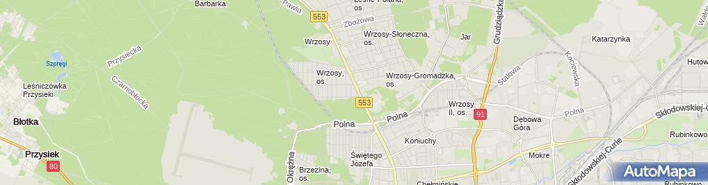 Zdjęcie satelitarne Biuro Rachunkowe Drahma