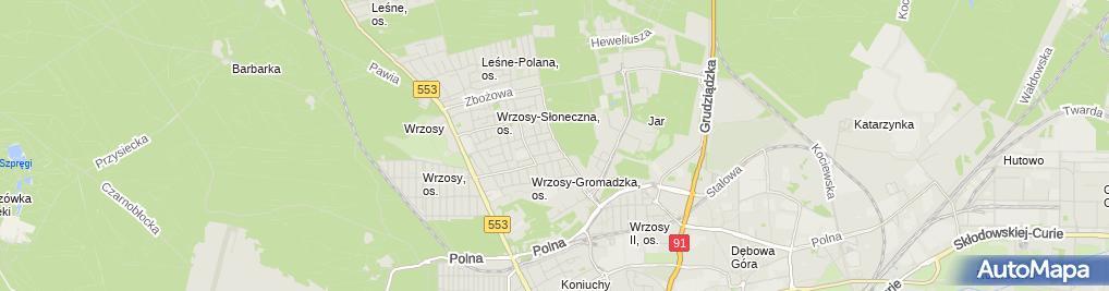 Zdjęcie satelitarne Biuro Rachunkowe Kaszubowska Kosińska Bożena