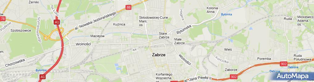 Zdjęcie satelitarne Biuro Rachunkowe Rotax