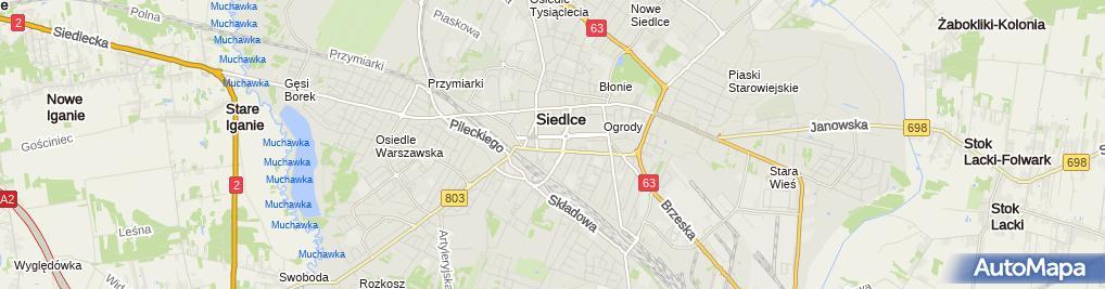 Zdjęcie satelitarne Biuro Rachunkowe Sokrates Urszula Kryńska Andrzej Kryński