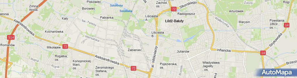 Zdjęcie satelitarne Biuro Rachunkowo Konsultacyjne Abak Marcin Sadoch Regina Sadoch Czyżewska