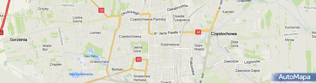 Zdjęcie satelitarne Biuro Usług Rachunkowych