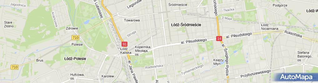 Zdjęcie satelitarne Indeks Biuro Rachunkowe Anna Kaczmarek Teresa Mruk