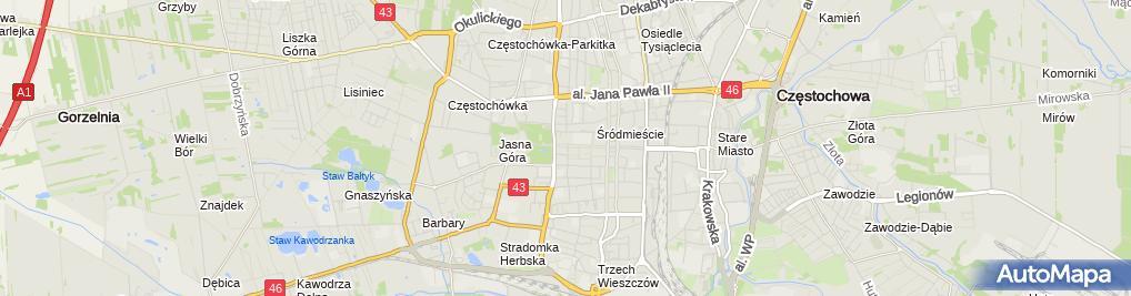 Zdjęcie satelitarne Katarzyna Zacharska-Gwóźdź Proksi Biuro Rachunkowe
