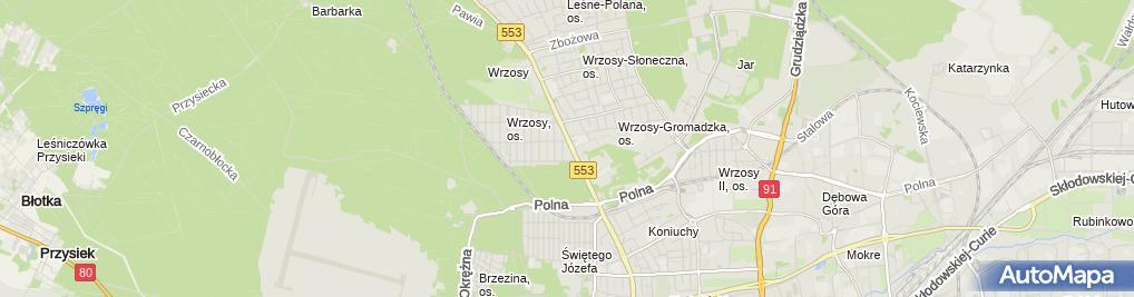 Zdjęcie satelitarne Lewandowska Lucyna Lucyna Kancelaria Finansowo Księgowa