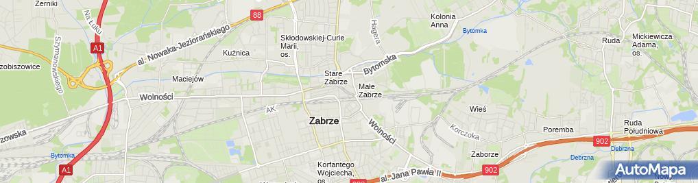 Zdjęcie satelitarne Przedsiębiorstwo Handlowe Eureka Biuro Rachunkowe Staska Elżbieta Husak Anna