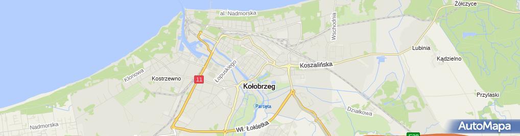 Zdjęcie satelitarne Usługi Biurowo Rachunkowe