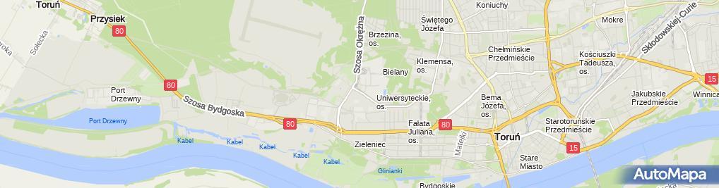 Zdjęcie satelitarne Bindec Trawiński Zbysław