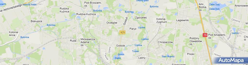 Zdjęcie satelitarne Śląski Inkubator Przedsiębiorczości