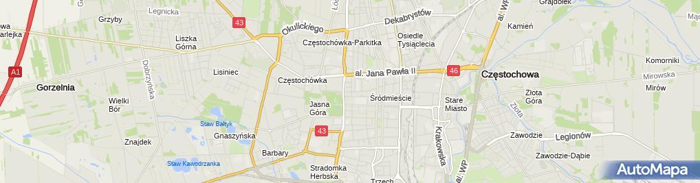 Zdjęcie satelitarne BNP Paribas - Oddział