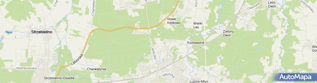 Zdjęcie satelitarne Gminny Ośrodek Sportu, Rekreacji i Turystyki w Luzinie