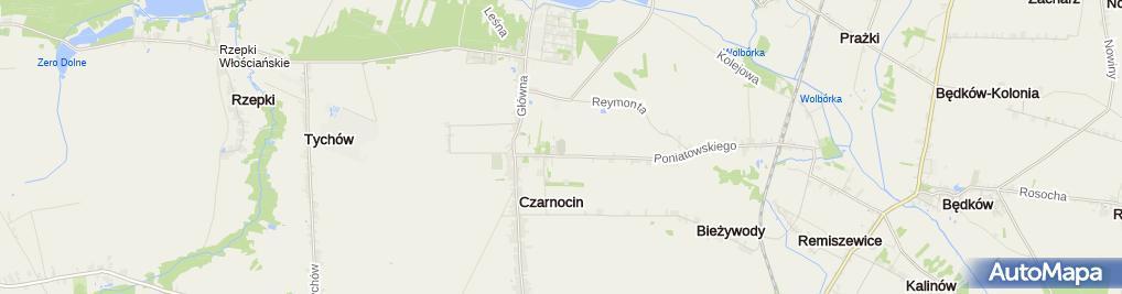 Zdjęcie satelitarne Sęp Czarnocin