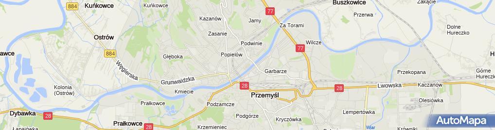 Zdjęcie satelitarne Stadion Czuwaju Przemyśl im. dr Mieczysława Słabego