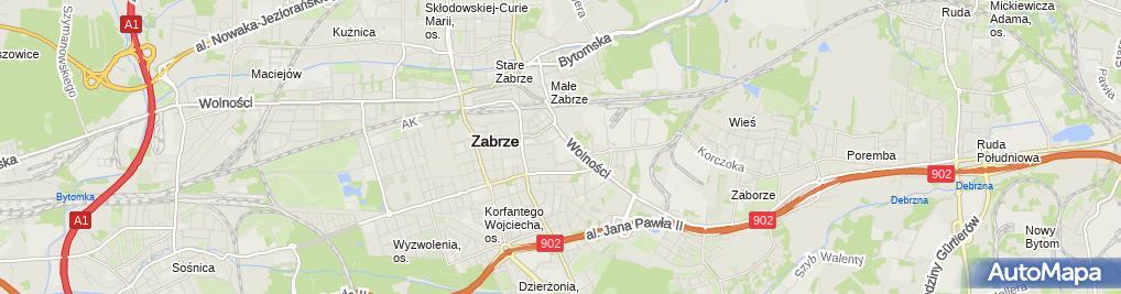 Zdjęcie satelitarne Browary Górnośląskie