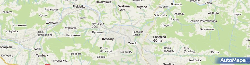 Zdjęcie satelitarne Market budowlany Włodarczyk