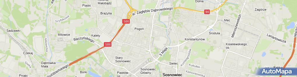 Zdjęcie satelitarne Narmal Sosnowiec - hurtownia budowlana