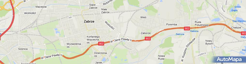 Zdjęcie satelitarne Amper R Gorczyca T Patoń