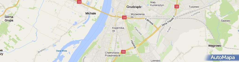 Zdjęcie satelitarne An - Baz Andrzej Bazyluk Kierownictwo Budów Nadzory Budowlane