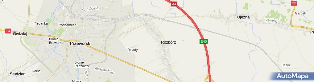 Zdjęcie satelitarne Andrzej Nazarko Usługi Remontowo-Budowlane