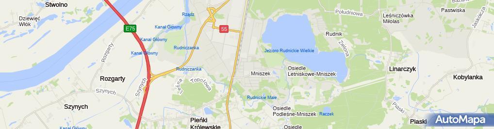 Zdjęcie satelitarne Budirek Budownictwo i Reklama Artur Lubański