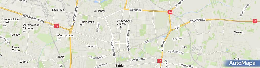 Zdjęcie satelitarne Budostal Łódź