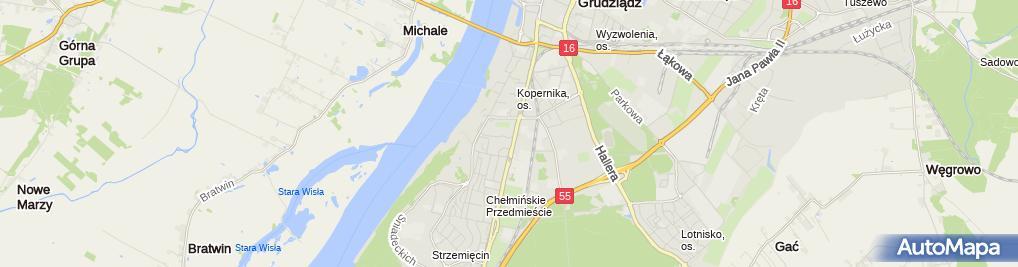 Zdjęcie satelitarne Concept'' - Projektowanie Architektoniczne Tomasz Porębny
