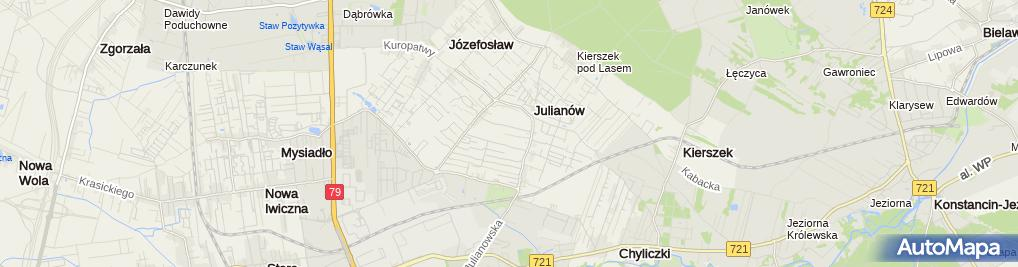Zdjęcie satelitarne Domy i Domki Niemyjska Bieniasz