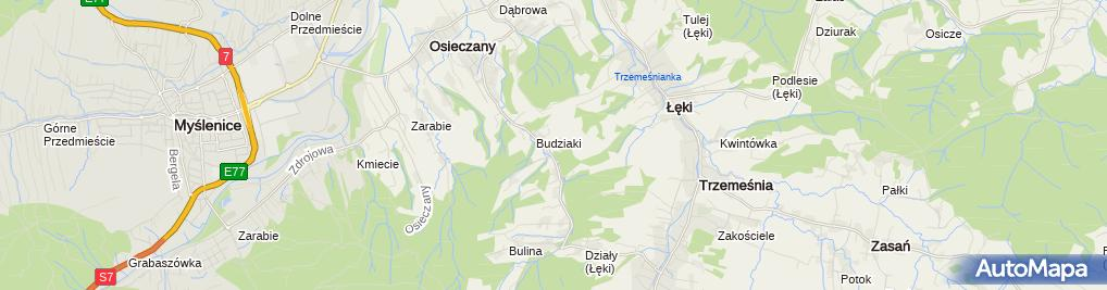 Zdjęcie satelitarne Elektroinstalacje Tomasz Dąbrowski