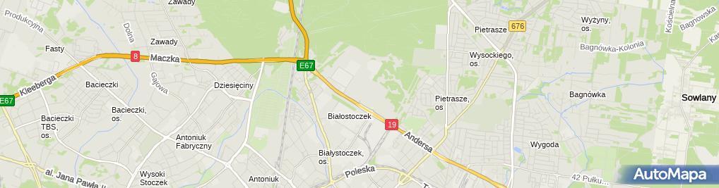 Zdjęcie satelitarne Elteb Jan Żurkowski