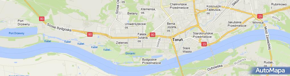 Zdjęcie satelitarne Energa Operator Eksploatacja Toruń
