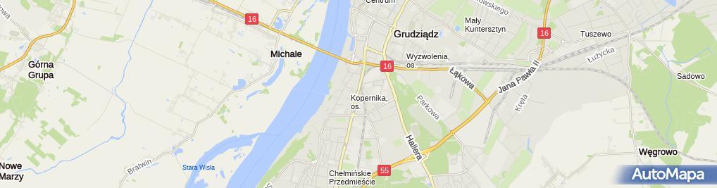 Zdjęcie satelitarne F.H.U.Szpros Technika Okienna Mirosław Wolski