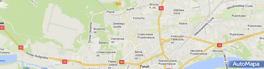 Zdjęcie satelitarne Fadro Trans Krusz