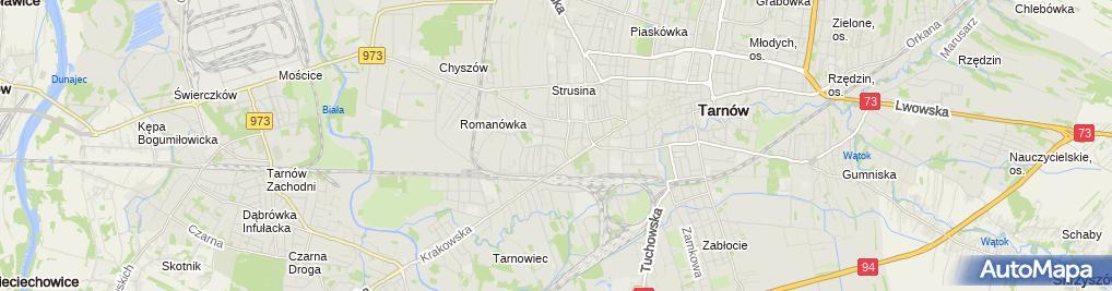 Zdjęcie satelitarne FHU Uni-Mar Marek Głuszak 33-100 Tarnów, ul.Głowackiego 19