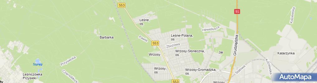 Zdjęcie satelitarne Firma Budowlana Krakowscy Krakowski Krzysztof