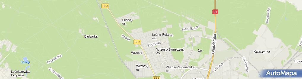 Zdjęcie satelitarne Firma Budowlana Krakowscy-Term Waldemar Krakowski