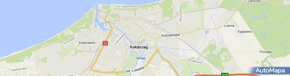 Zdjęcie satelitarne Firma Budowlana Orto Jan Lipień