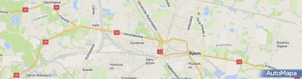 Zdjęcie satelitarne Firma Handlowa - Okna PCV Henryk Dębiński