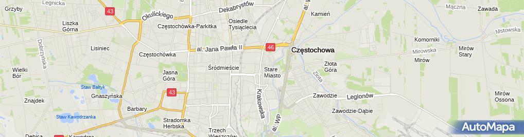 Zdjęcie satelitarne Firma Handlowo Usługowa Akbud Jan Kamiński