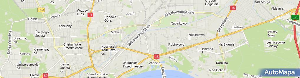 Zdjęcie satelitarne Firma Handlowo Usługowa Elektro Self Wiśniewski Zbigniew Likus Piotr