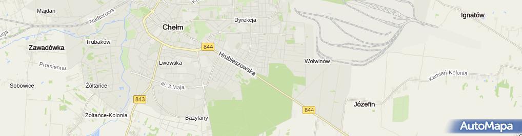 Zdjęcie satelitarne Firma Handlowo - Usługowa International Slawex Sławomir Sarzyński