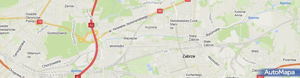Zdjęcie satelitarne Firma Handlowo- Usługowa Wiek Wieczorek Marcin