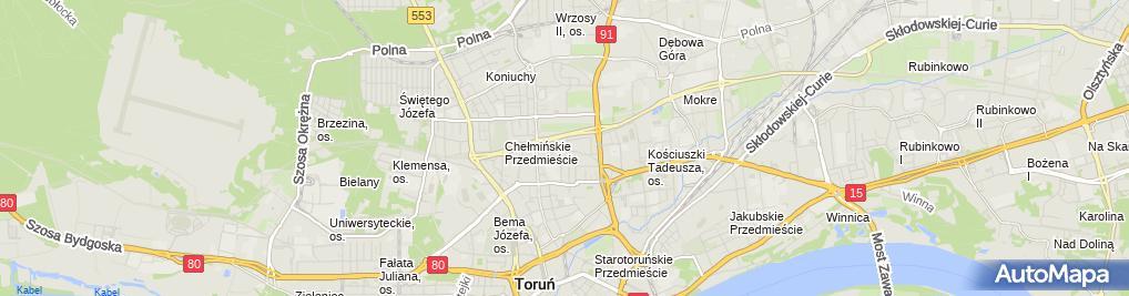 Zdjęcie satelitarne Firma Usługowa Kastor Marciniak Adam