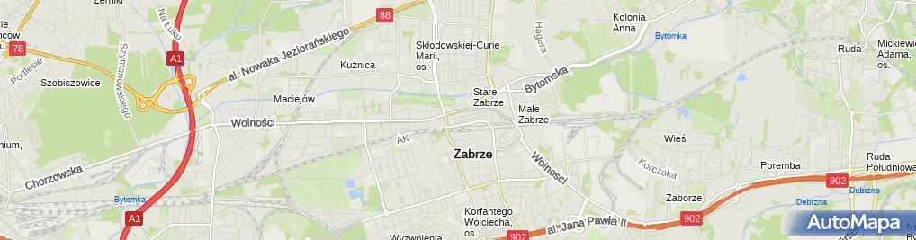 Zdjęcie satelitarne Firma Usługowo Budowlano Handlowa Partner Tadeusz Skubiszewski