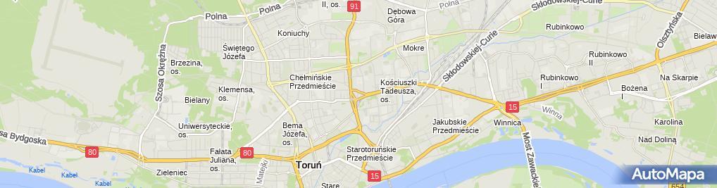 Zdjęcie satelitarne Firma Usługowo Handlowa DOM Tech