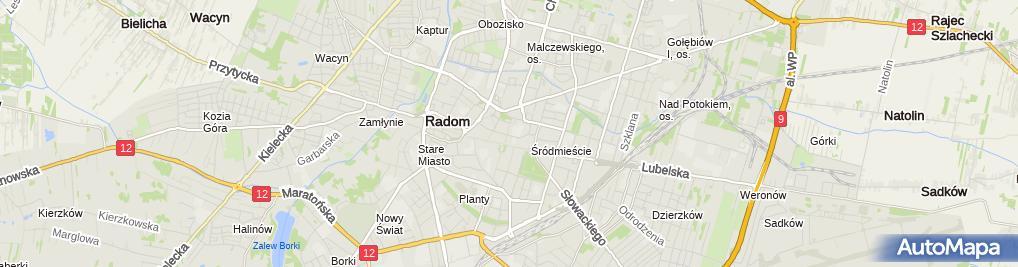 Zdjęcie satelitarne Firma Usługowo Hanlowa