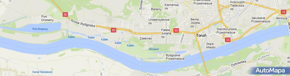 Zdjęcie satelitarne Gierad Piotr Eltim Usługi Elektro Energetyczne