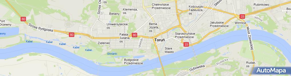 Zdjęcie satelitarne Gliszczyński Adam Zuel Zakład Usług Elektrycznych